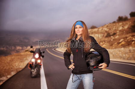 fashion biker girl
