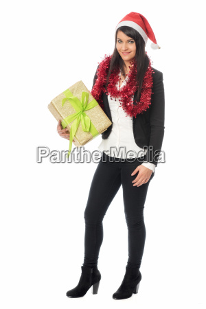 gift parcel christmas box black hairs
