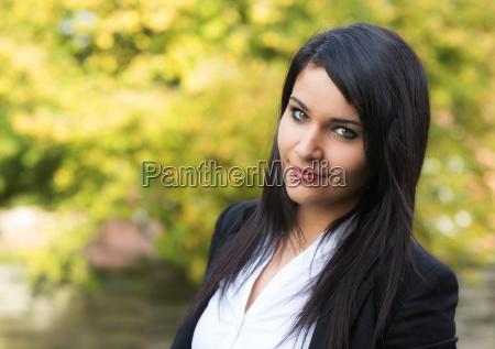 girl face in autumn