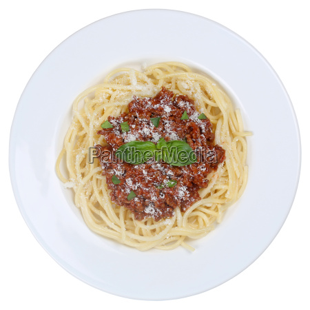isolated spaghetti bolognese pasta pasta dish
