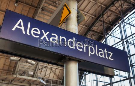 alexanderplatz u bahn station in berlin