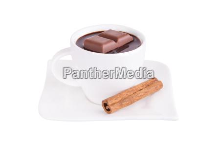 heisse schokolade mit zimt