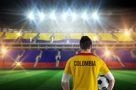 composite bild von kolumbien fussball spieler