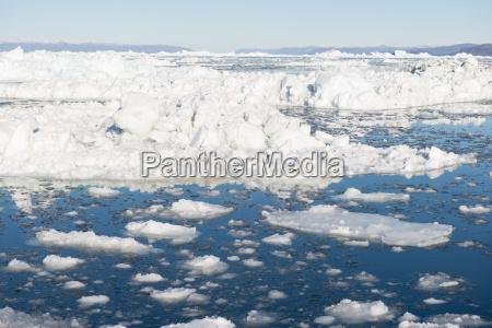 arktische landschaft in groenland