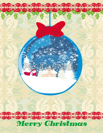 weihnachtsmann in einer glaskugel