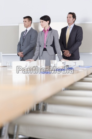 portrait of confident business people in