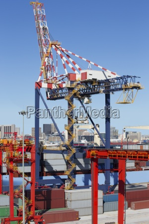 crane container ship and cargo containers