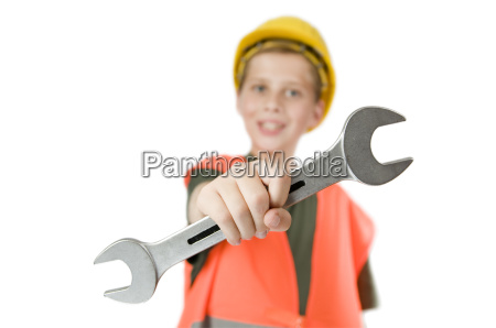 boy show a open end wrench