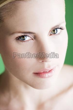 mujer hermoso bueno salud primer plano