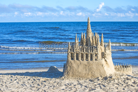 sandcastle at the baltic sea