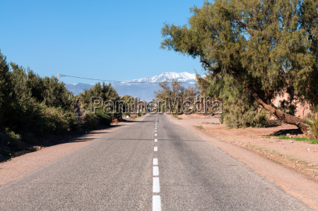 road to atlas mountains in morocco
