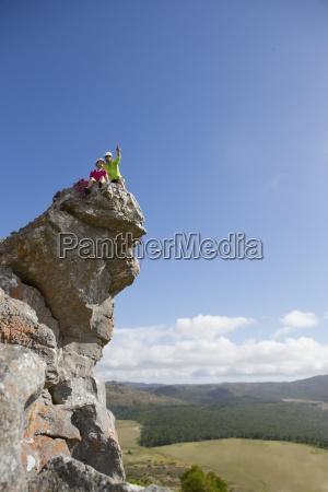 kletterer zeigen und sucht auf sicht