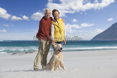 portrait of smiling senior couple with