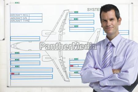 portrait of confident businessman in front