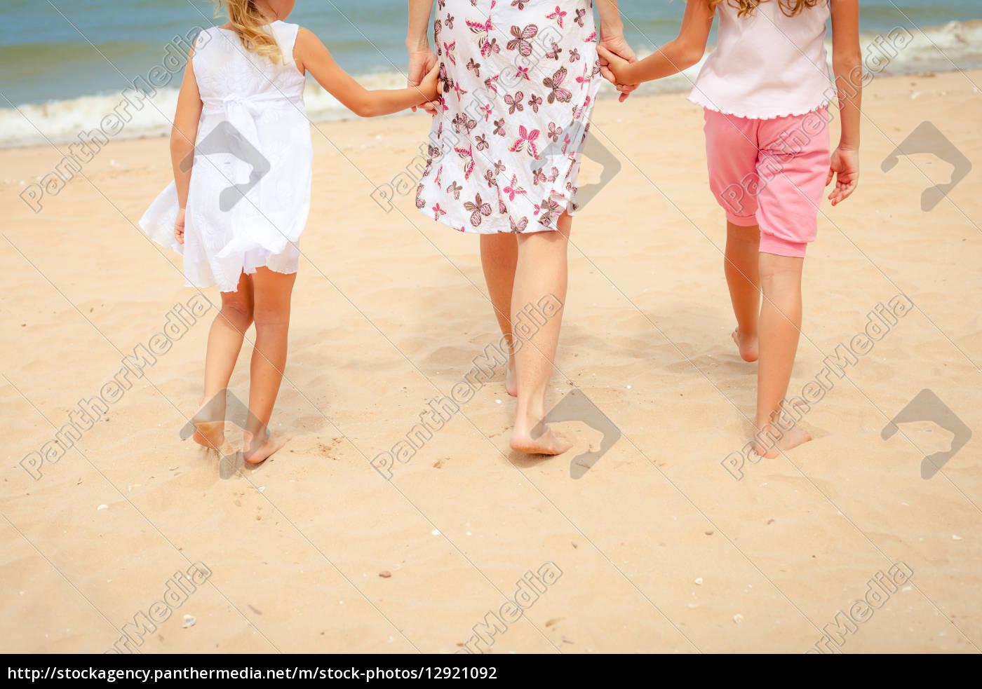 fröhliches, familienspiel, am, strand, - 12921092