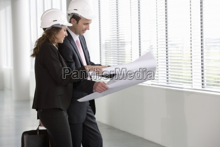 woman study office indicate show architectural
