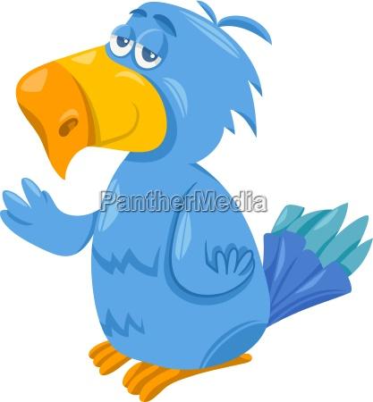 funny parrot cartoon illustration