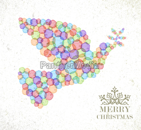 merry christmas watercolor spot peace