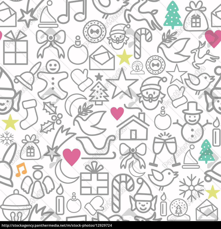 frohe weihnachten geschenkpapier muster kontur ikonen. Black Bedroom Furniture Sets. Home Design Ideas