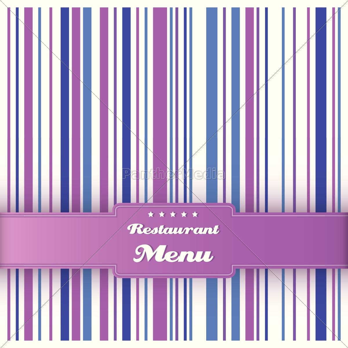 restaurant menü karte design-vorlage. vektor. - Lizenzfreies Foto ...