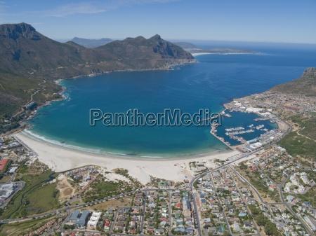 vista aerea de hout bay ciudad