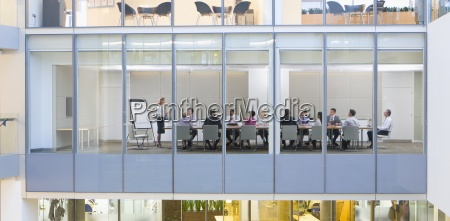 view of business people meeting in