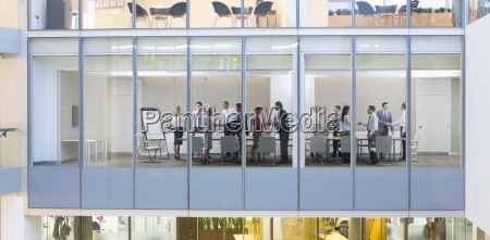 view of business people shaking hands