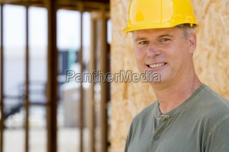 man in hardhat smiling portrait