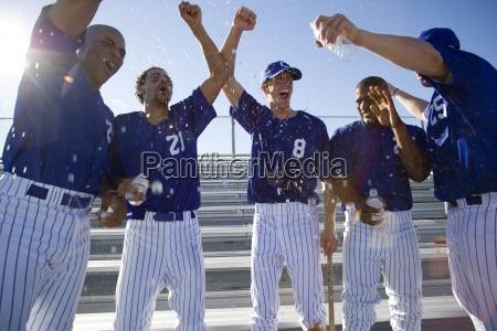 baseball team in der blauen uniform
