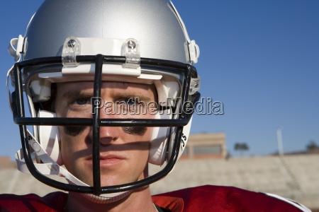 american football player wearing football strip