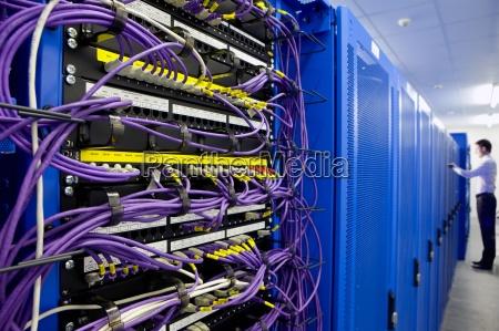 lan kabel und netzwerkserver