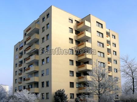 casa grattacielo costruzione edificio residenziale inverno