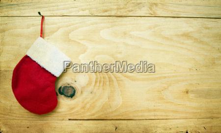 weihnachtsdekorationauf holzhintergrund