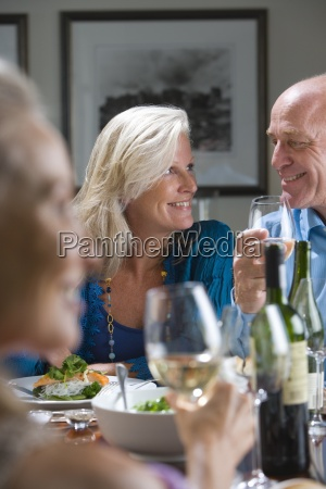 mature couple smiling at each other