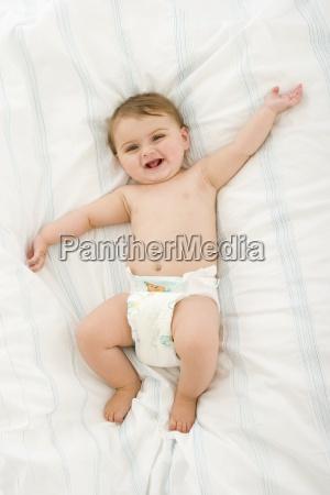 baby girl 3 6 months lying
