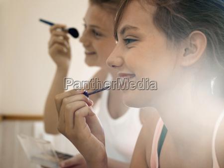 two teenage girls 15 17 applying