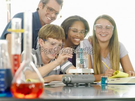 school studenten 12 14 und lehrer
