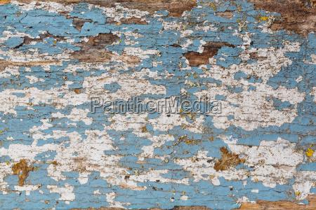 alte blau und weiss lackierte holzbretter