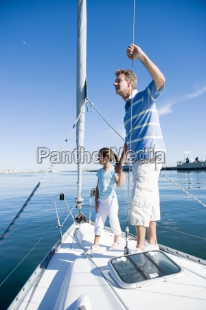 father and daughter 8 10 standing