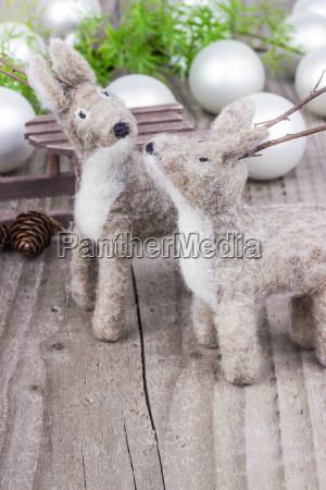 tiere, weihnachtszeit, kinderspielzeug, spielsachen, filz, christmas - 12976970