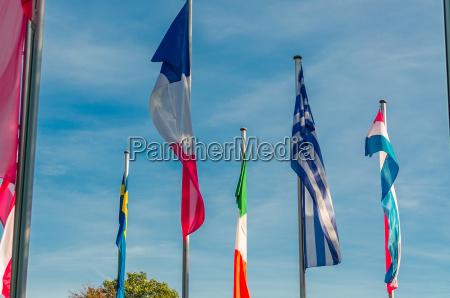 internationale flaggenmeer