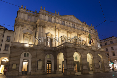 la scala opernhaus mailand lombardei italien