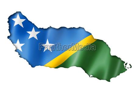 salomonen flagge karte