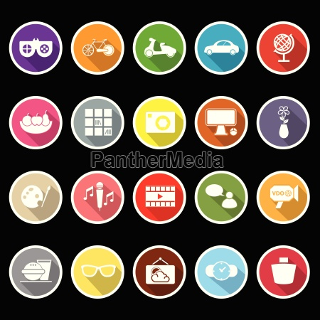 favorite and like flat icons with