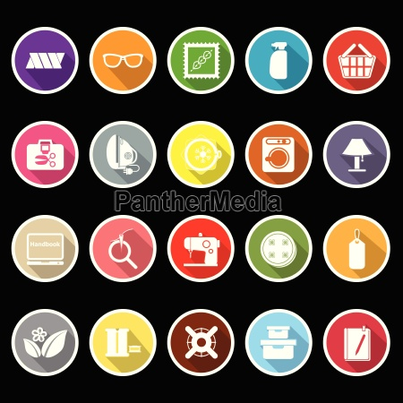 sewing cloth related flat icons with