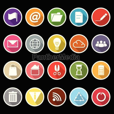 web and internet icons with long