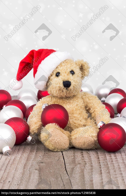 tiere, teddybär, weihnachtszeit, kinderspielzeug, spielsachen, christmas - 12985838