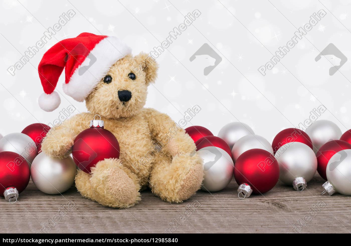 tiere, teddybär, weihnachtszeit, kinderspielzeug, spielsachen, christmas - 12985840