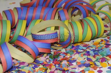 undluftschlangen confetti