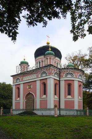 russische kirche in der kolonie alexandrowka